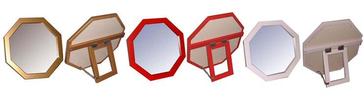 八角形デザインスタンドミラー